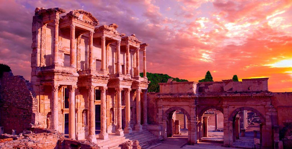 Las ruinas de Efeso de impresionante arquitectura