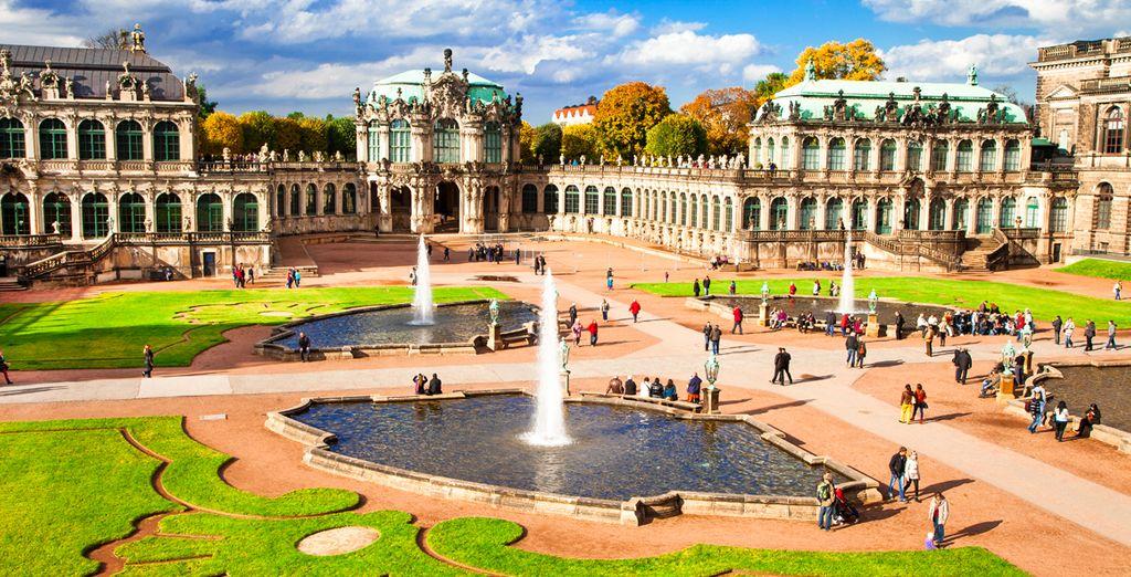 Visitará el espectacular conjunto barroco del Zwinger