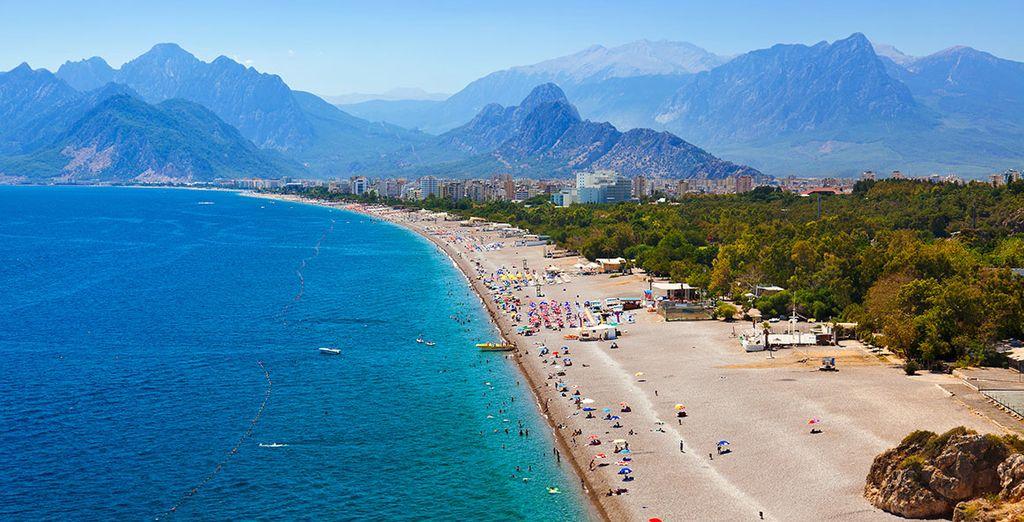 Disfrute de las playas de Antalya