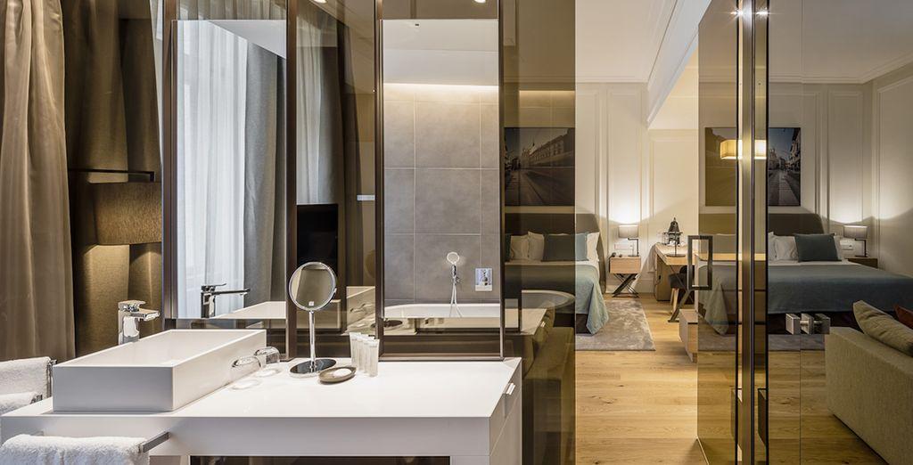 La salle de bains vous procurera tout le confort nécessaire
