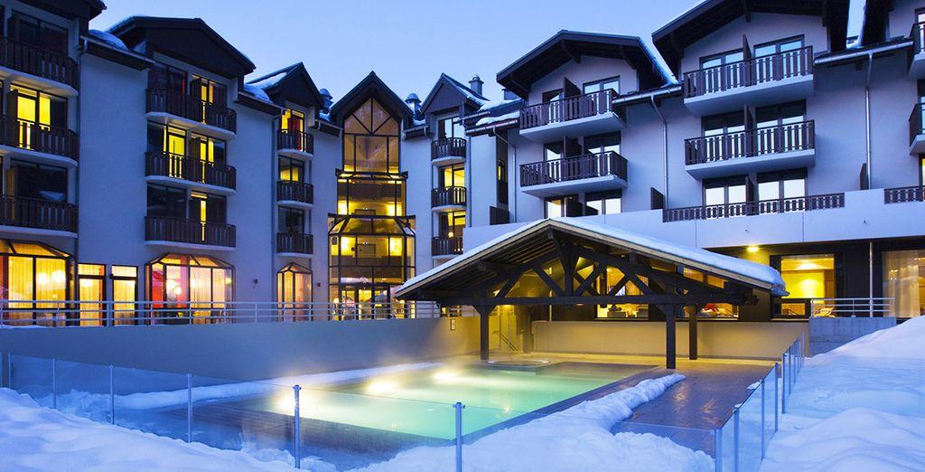 ... d'où vous pourrez vous émerveiller devant le majestueux Mont-Blanc