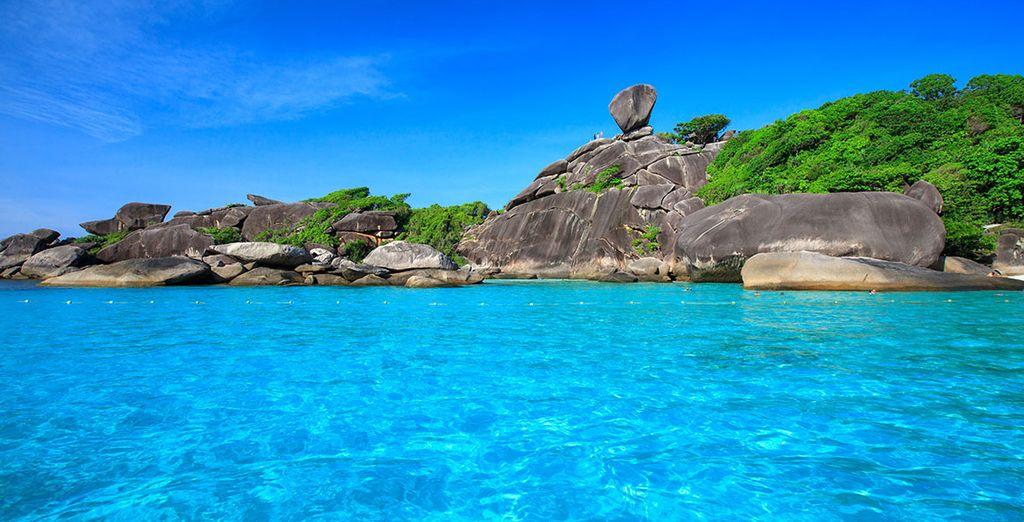 Et plongerez dans l'un des plus beaux spots du sud : l'île de Similan