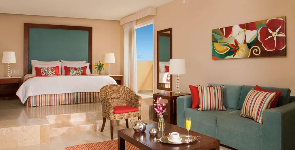 La quiétude de votre Junior Suite Tropical View agira sur vous immédiatement...
