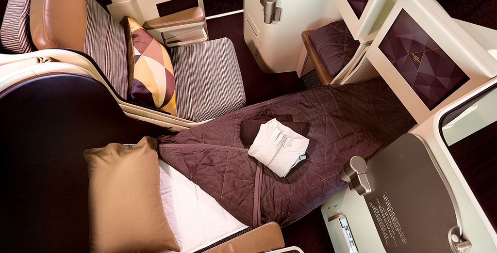 Ou de profiter d'un lit totalement plat en classe Affaires...