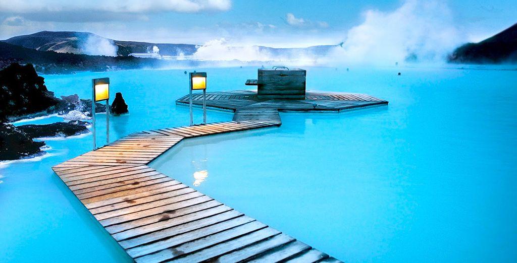 Bathe in a steamy blue lagoon