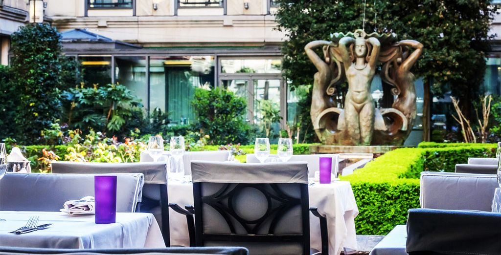 Dine al fresco during the summer months