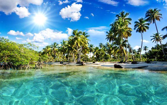 картинки на рабочий стол море пляж пальмы № 258634 скачать