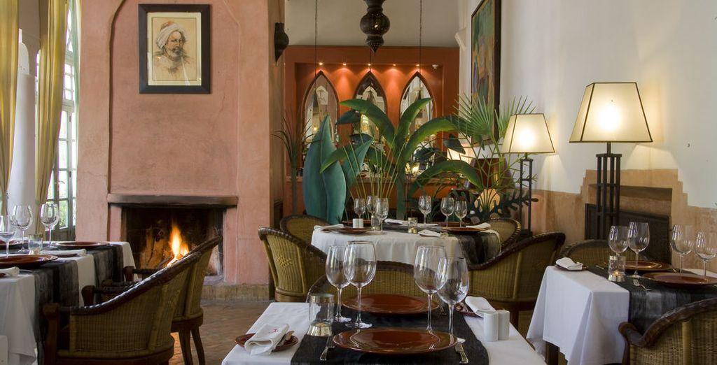 Bevor Sie ein opulentes Mahl im Restaurant kredenzt bekommen