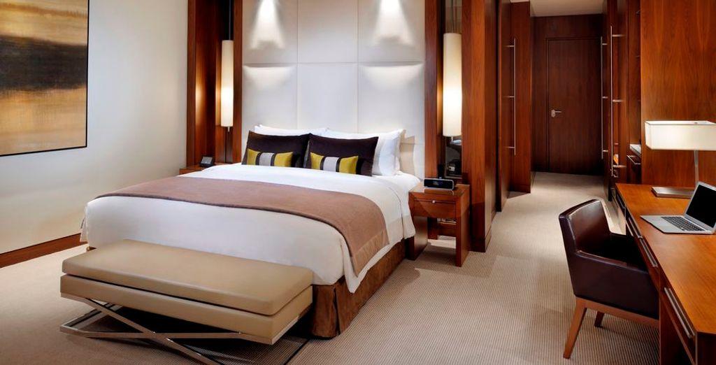 ... Corner Suite im JW Marriott Marquis 5* verbringen werden