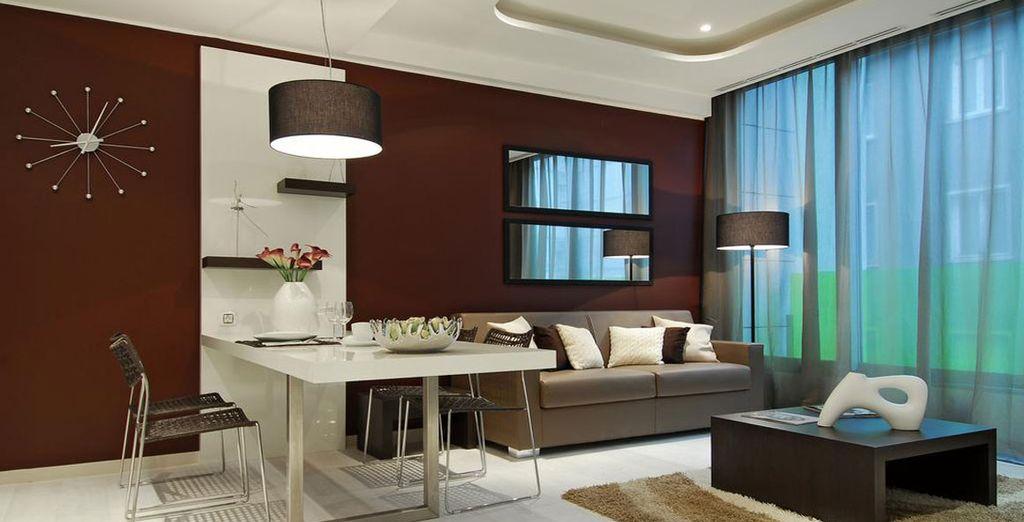 Eine komfortable Suite erwartet Sie