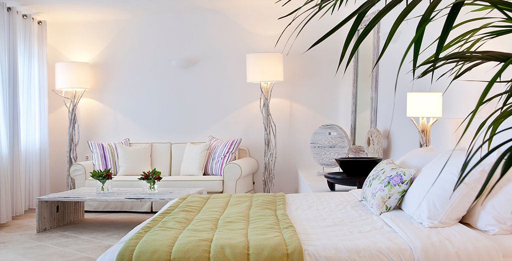 Schlafen Sie in einer Suite mit Meerblick