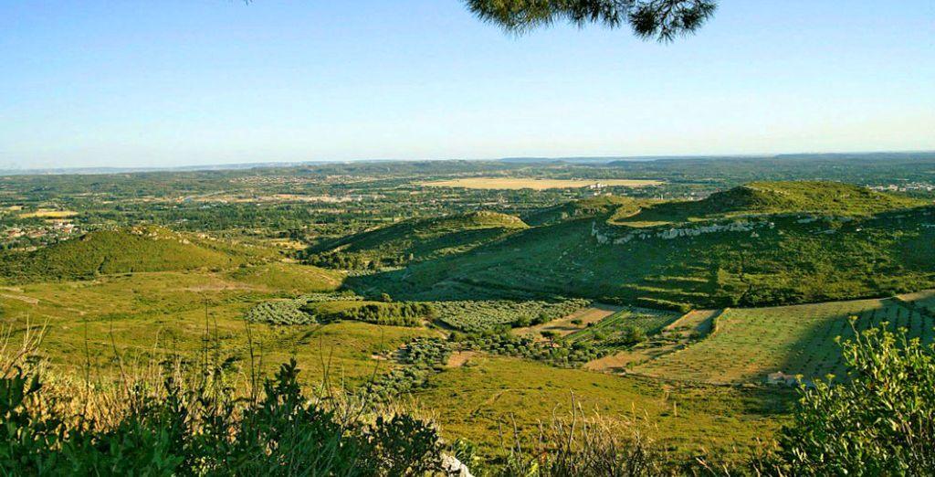 Mit einem atemberaubenden Blick auf die Ebene von Salon de Provence