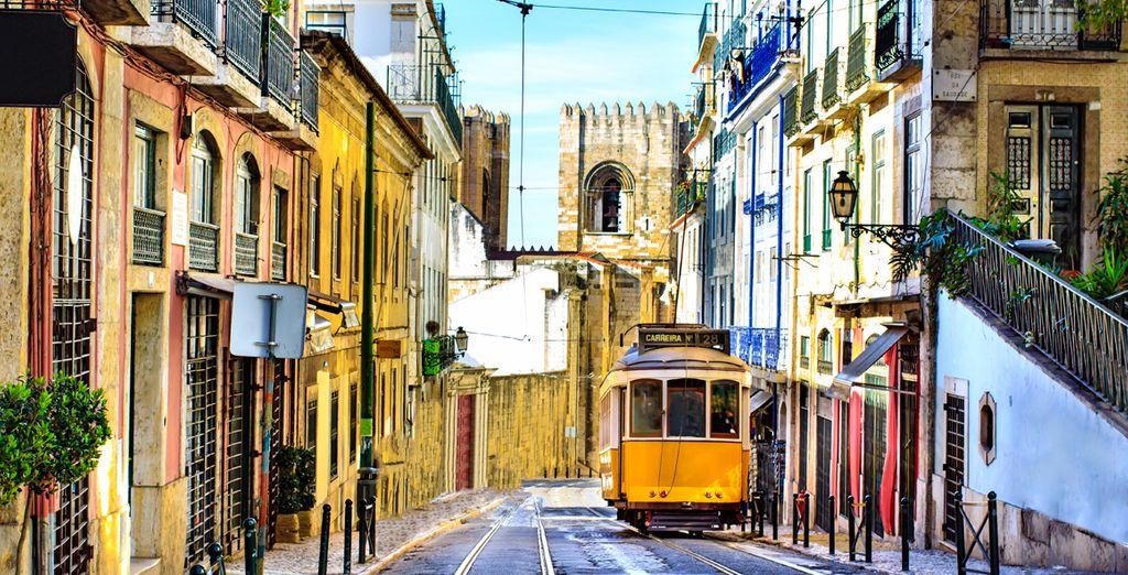 Typische portugiesische öffentliche Verkehrsmittel