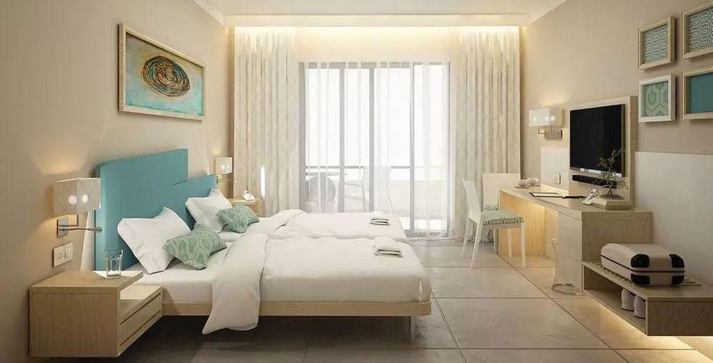 Alle Designer Zimmer verfügen über einen Balkon oder eine Terrasse und kostenlosem Wlan