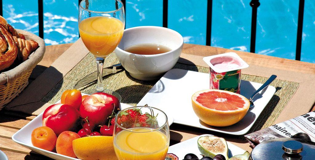 Beginnen Sie Ihren Tag mit einem ausgiebigen Frühstück...