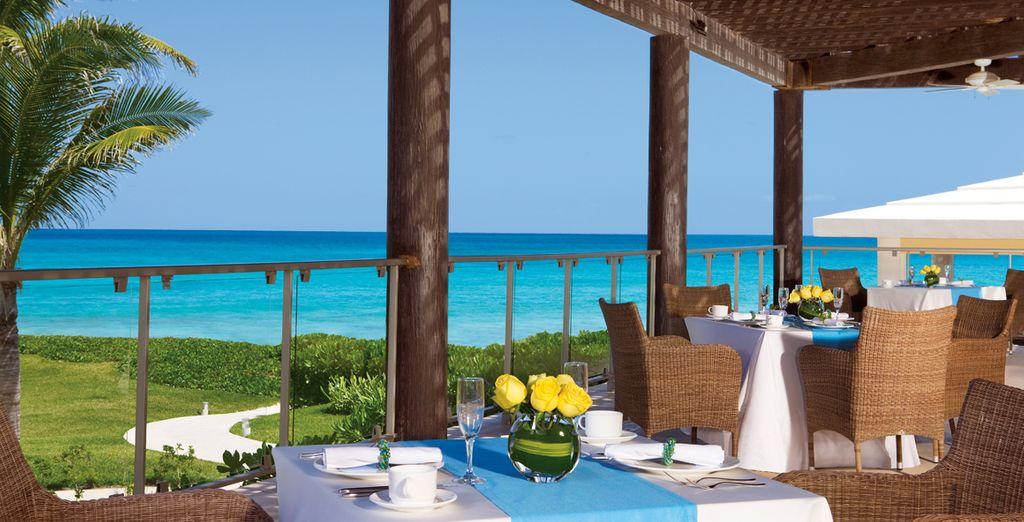 Ob Mittagessen auf der Terrasse ...