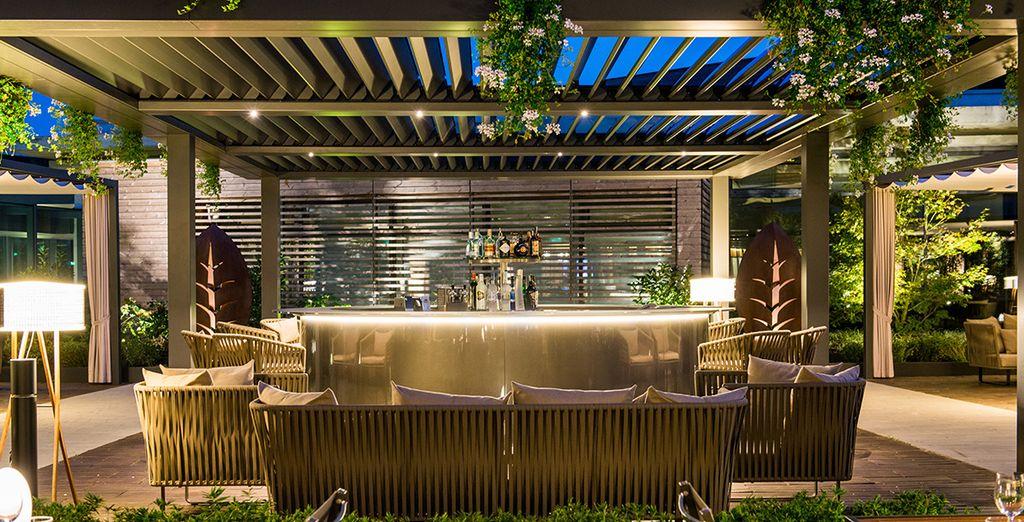 Entspannen Sie sich im Hotelgarten