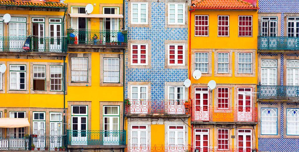 Entdecken Sie die bunten Häuser von Porto