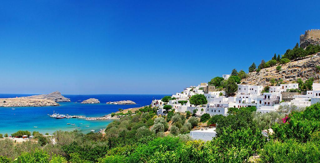 Auf der historischen Insel von Rhodos