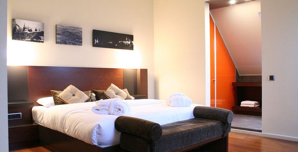 Genießen Sie Ihren Aufenthalt in Ihrem modernen Zimmern