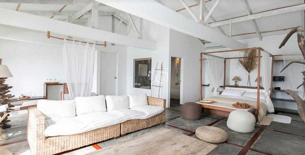 ... oder für eine geräumige Suite mit Meerblick