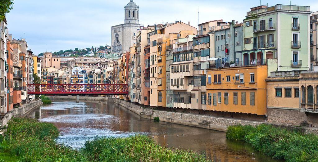 Nur wenige Kilometer von der berühmten Stadt Girona entfernt ...