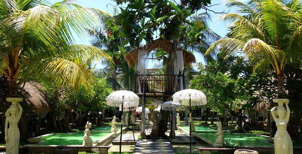 In einem grünen Garten Eden