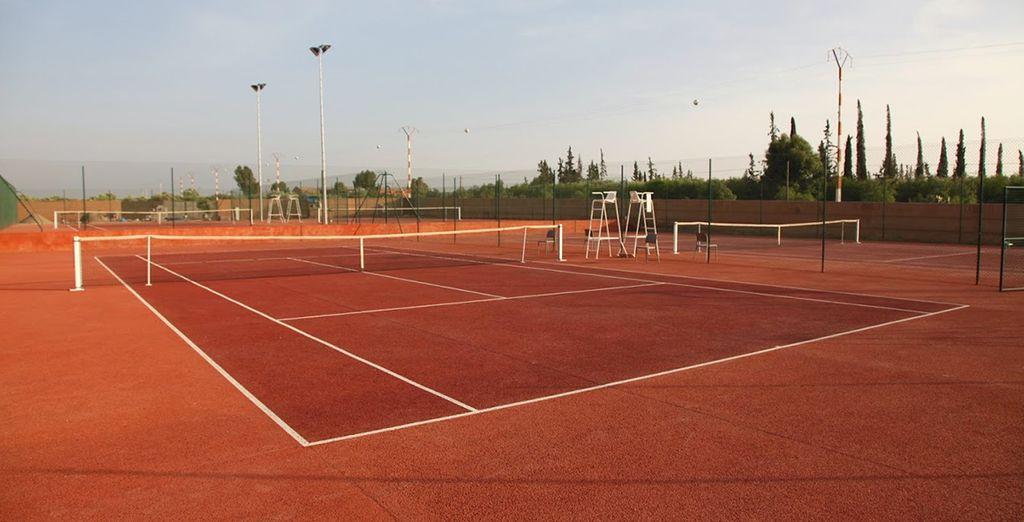 Oder wie wäre es mit einer Partie Tennis?