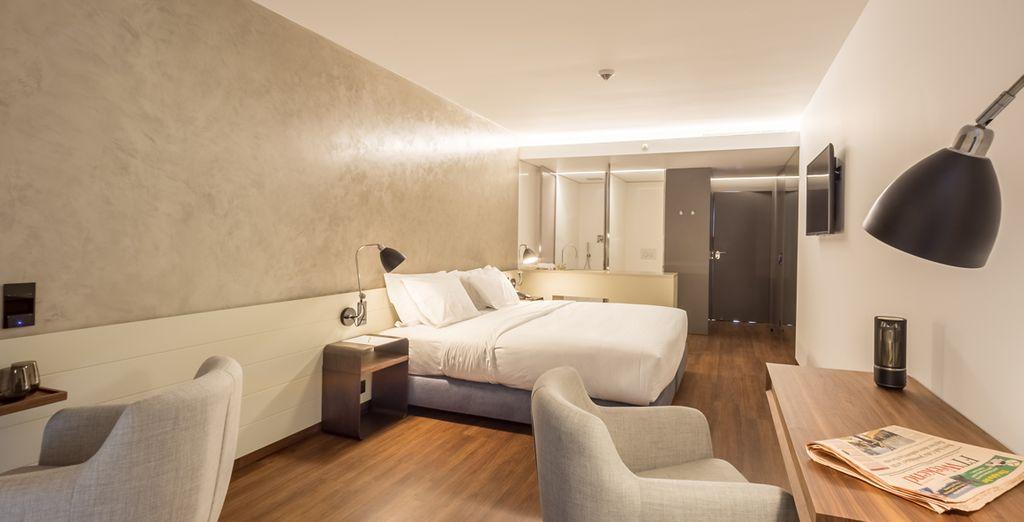Jedes der Zimmer des Hotels verfügt über alle modernen Annehmlichkeiten, die Sie für einen angenehmen Aufenthalt benötigen