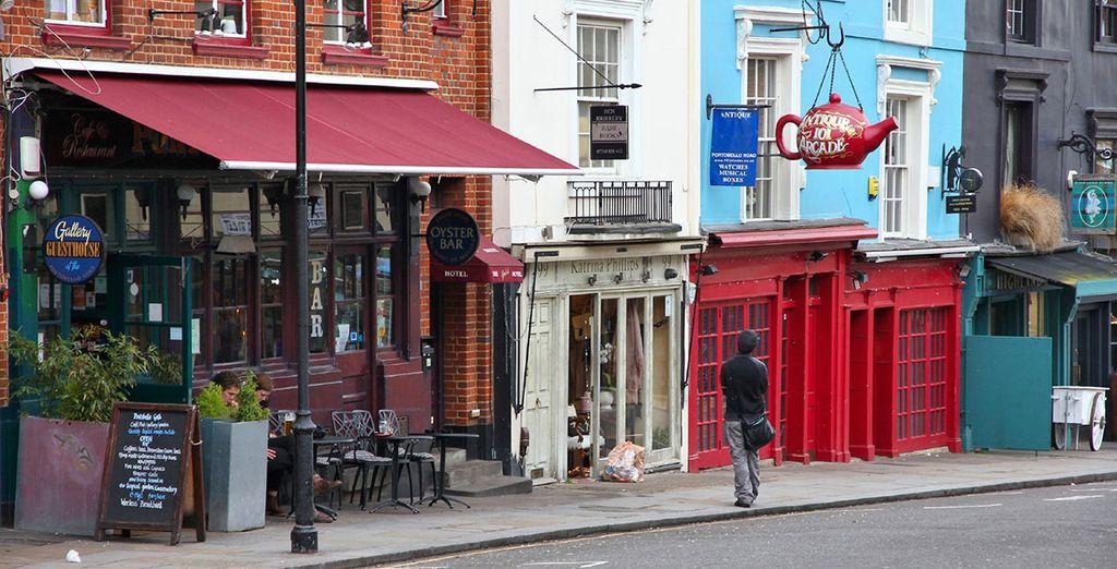 ...und den individuellen, kleinen Läden von Notting Hill