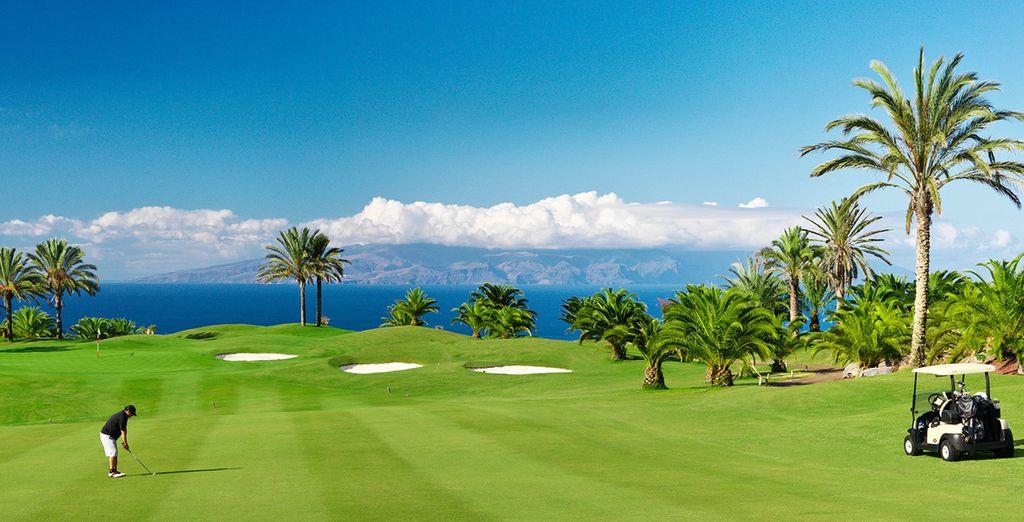 Ein perfekter Golfplatz wartet auch auf Sie