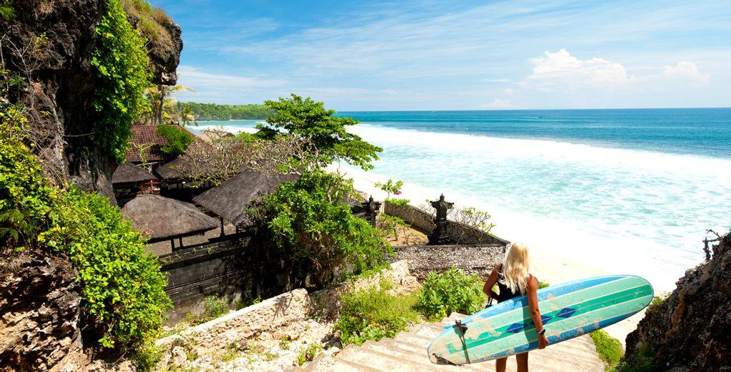 Hier könnnen Sie perfekt schnorcheln oder surfen