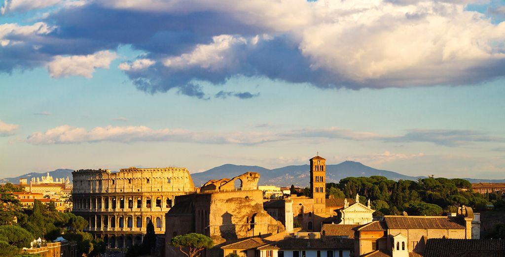 Sie befinden sich mitten in der historischen Stadt Rom