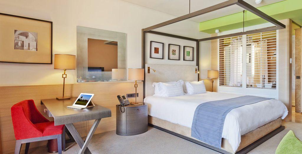 Die Zimmer sind modern und komfortable