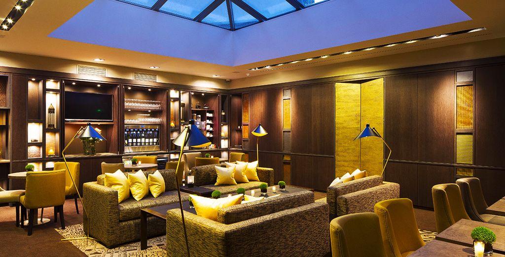 Das luxuriöse Hotel...