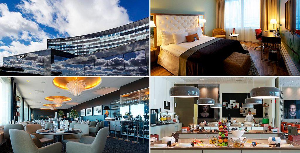 Während Ihres Aufenthalts in Stockholm übernachten Sie im Hotel Clarion Arlanda Airport