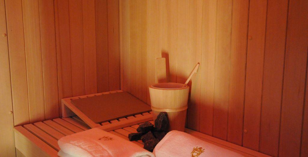 Mit Sauna und Dampfbad