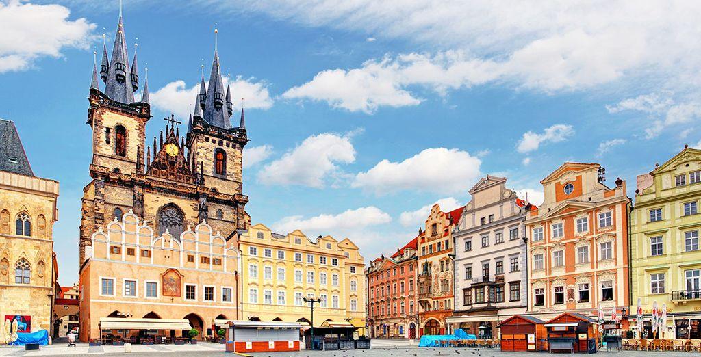 In der romantischen Atmosphäre von Prag ...