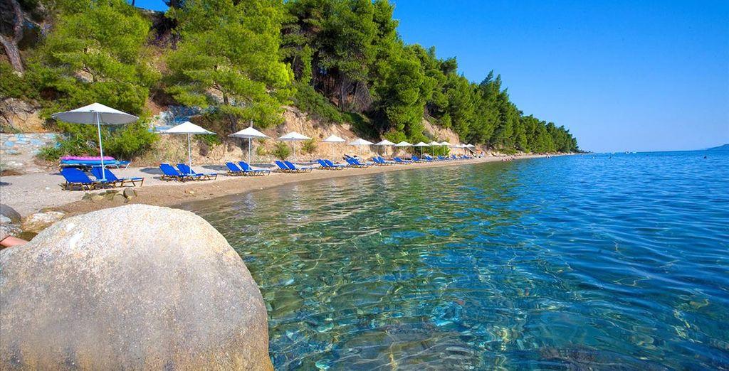Genießen Sie den privaten Strand des Hotels