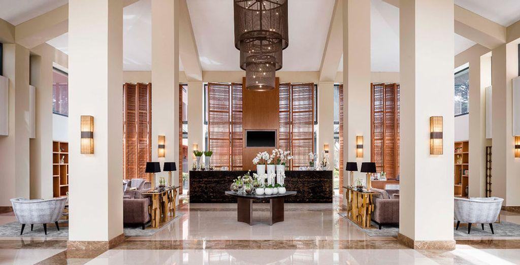 Das Hotel bietet eine stilvolle Einrichtung