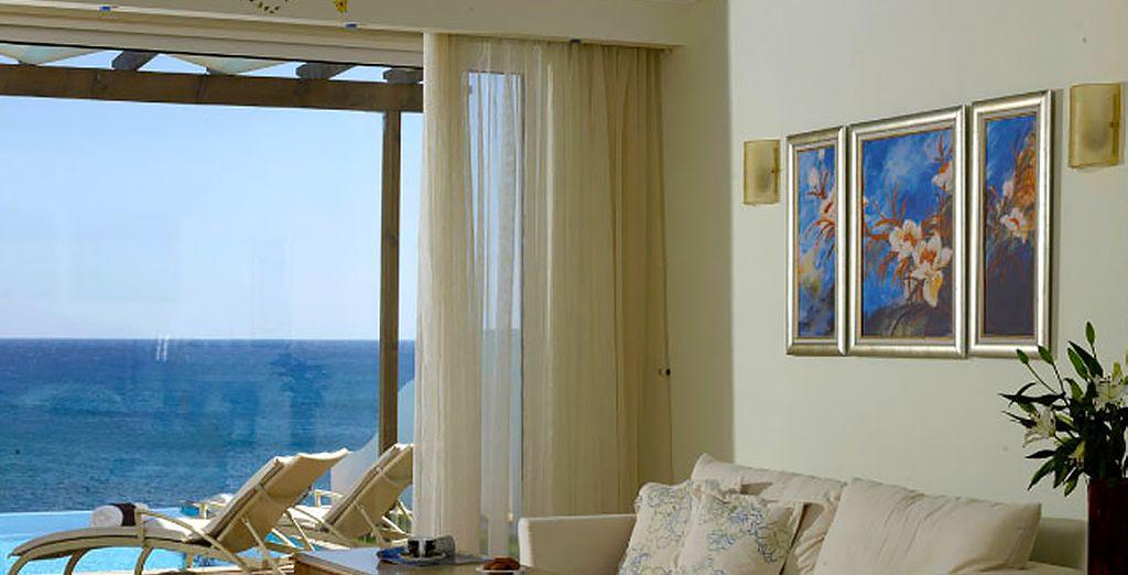 Oder Deluxe Zimmer mit Meerblick und privatem Pool für mehr Entspannung