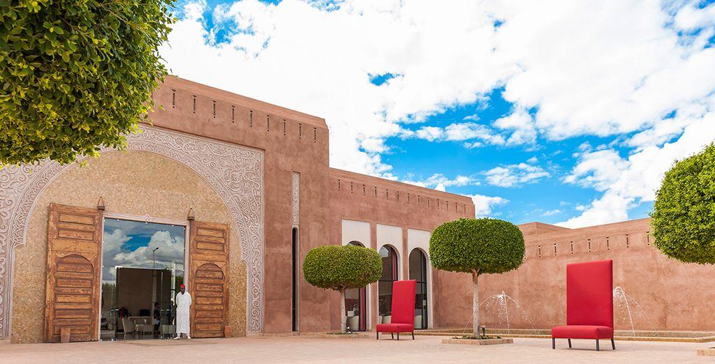 In einem Resort weit weg von der Hektik der Medina