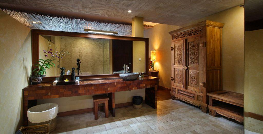 Mit magischem Badezimmer
