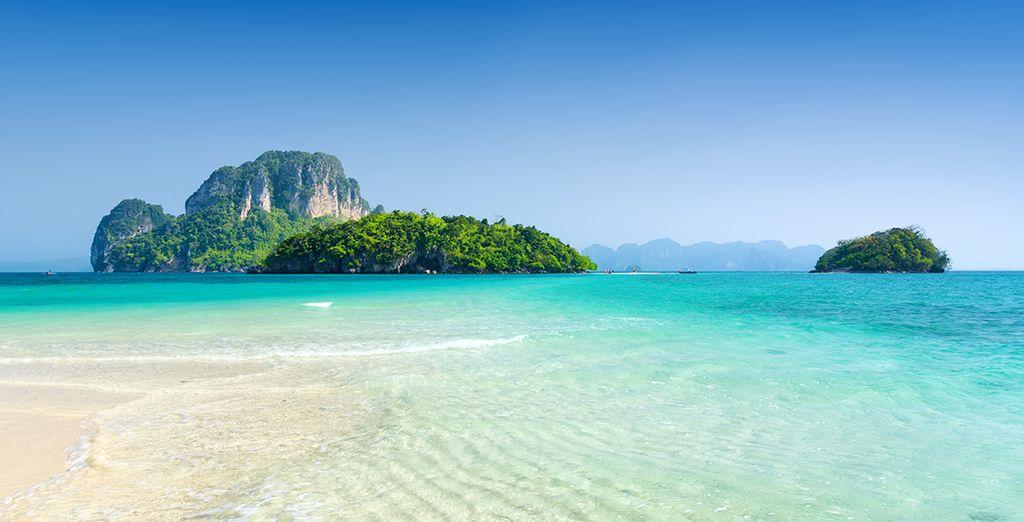 Erkunden Sie die Umgebung von Krabi und erliegen Sie der Schönheit der Insel Poda