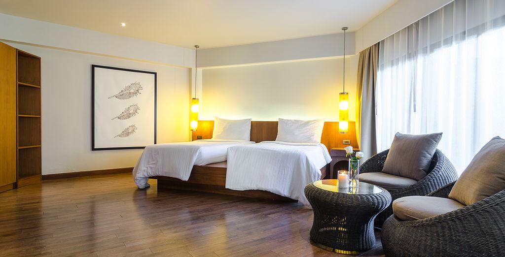 Mit einem komfortablen Bett für entspannte Nächte