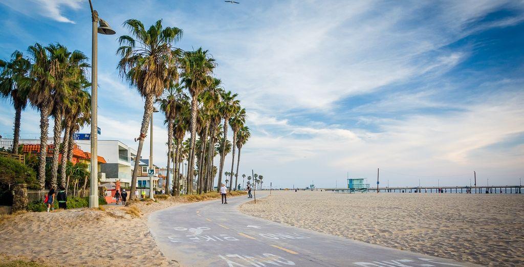 Spaziergang am Venice Beach entlang