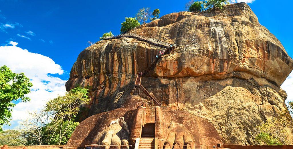 Die berühmte Sigiriya, der Löwenfelsen.