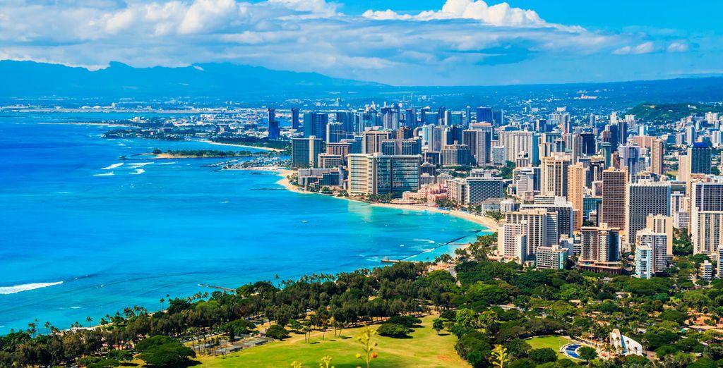 Die Sonne und die Strände von Honolulu