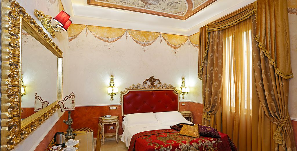 Das Hotel besteht aus vielen individuellen und luxuriösen Zimmern