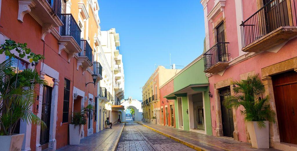 Entdecken Sie die bunten Straßen Mexikos während Ihres Urlaubs mit Voyage Privé